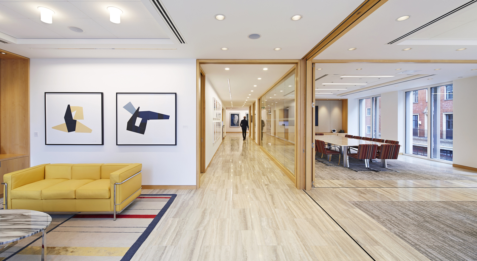 Folding Pocket Doors In The Conference Wing Maximize Natural Light And Provide Flexibility Acoustic Control