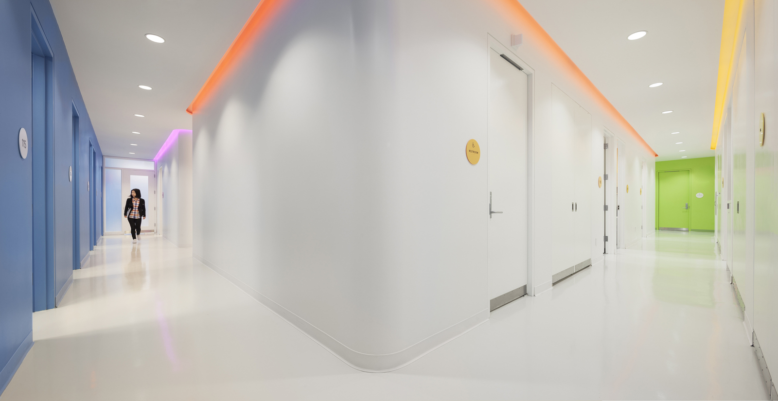 Color Accents Provide Orientation While Bringing Delight To The Clinical Area And Other Spaces Without Natural
